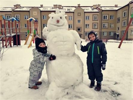 Na zdjęciu od lewej Mikołajek i Marcelek. Zdjęcie przesłał Michał Woja