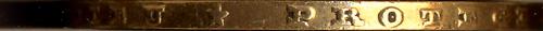 Photographie d'une tranche de pièce 20 francs or napoléon