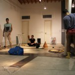"Phedon Odysseos/Christina Vrahimi/Petros Konnaris, from the Performance Art workshop ""SenseSelfEssence by Christina Georgiou, 31 Oct.-2 Nov. 2014, ARTos Foundation, Nicosia - Cyprus"