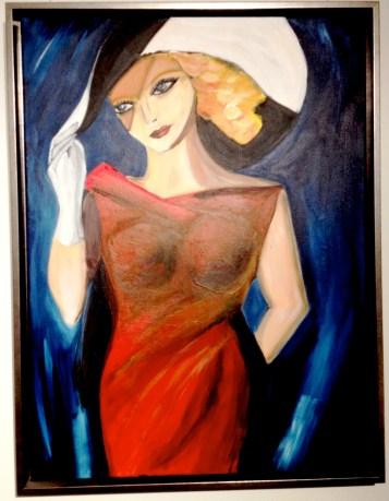 Femme au chapeu, 2013 (59x78 cm)