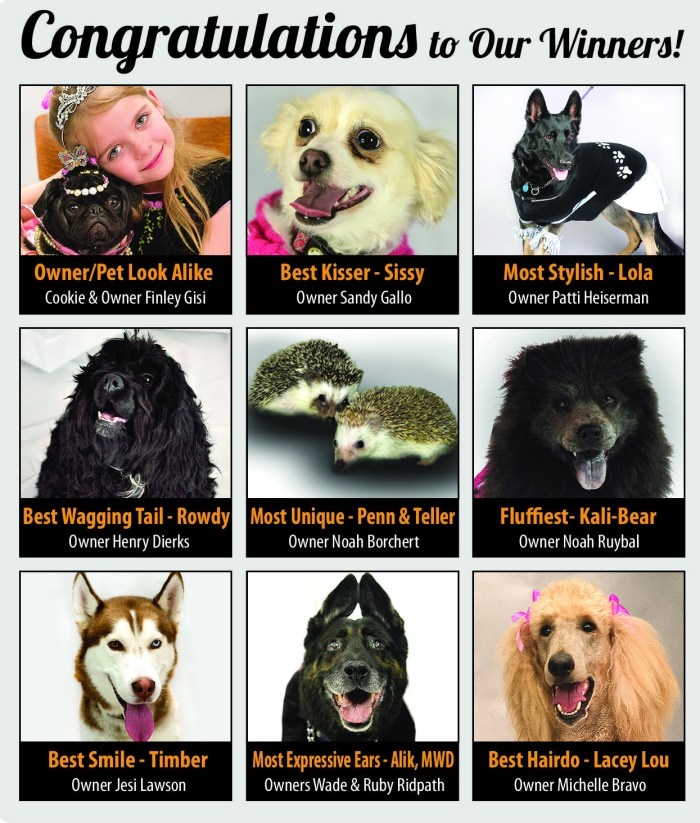 Pueblo Chieftain Pet Expo 2015 contest winners