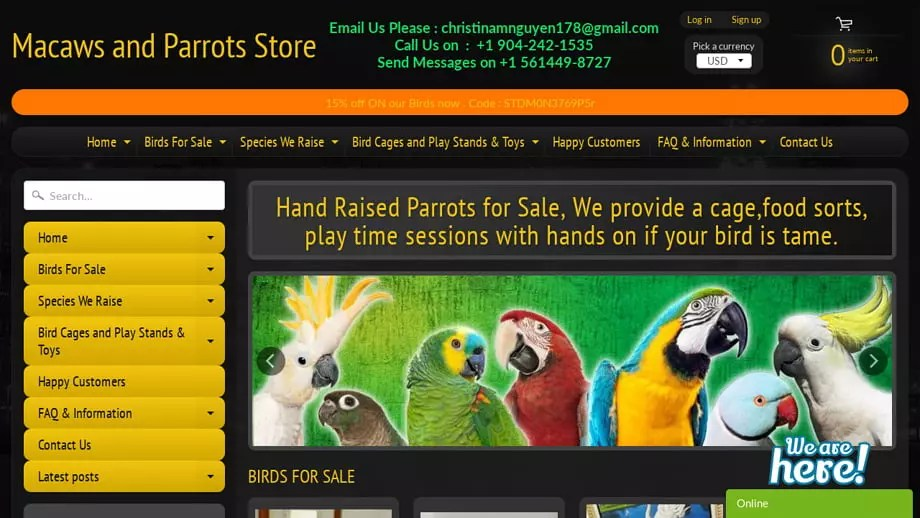 Macawsandparrotstore