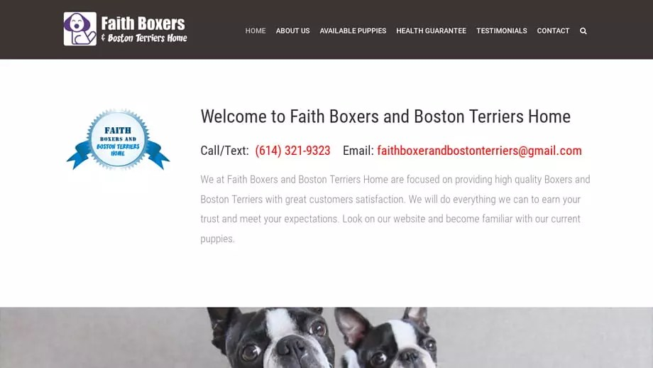 Faithboxerandbostonterriers