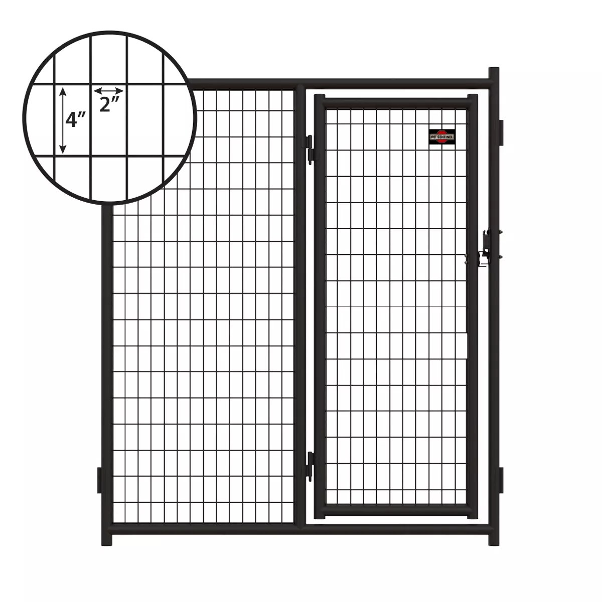 6ft H X 5ft W Heavy Duty Steel Kennel Gate