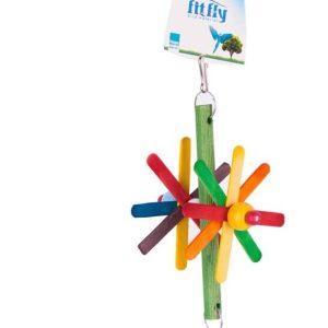 pinwheel wooden pet toy