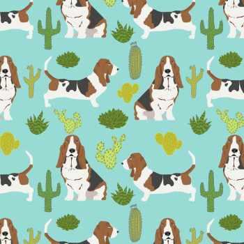 Basset Hound Fabric