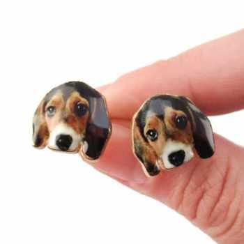 Beagle Earrings