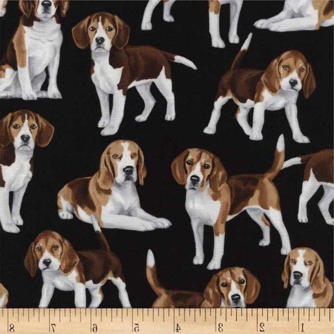 Beagle Print Fabric