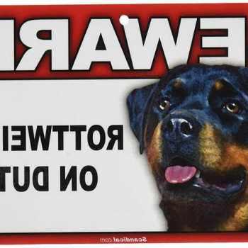 Beware Of Rottweiler Signs