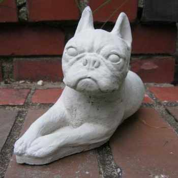 Boston Terrier Garden Statue