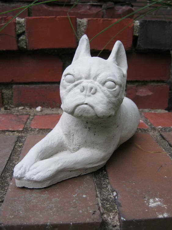 Boston Terrier Garden Statue