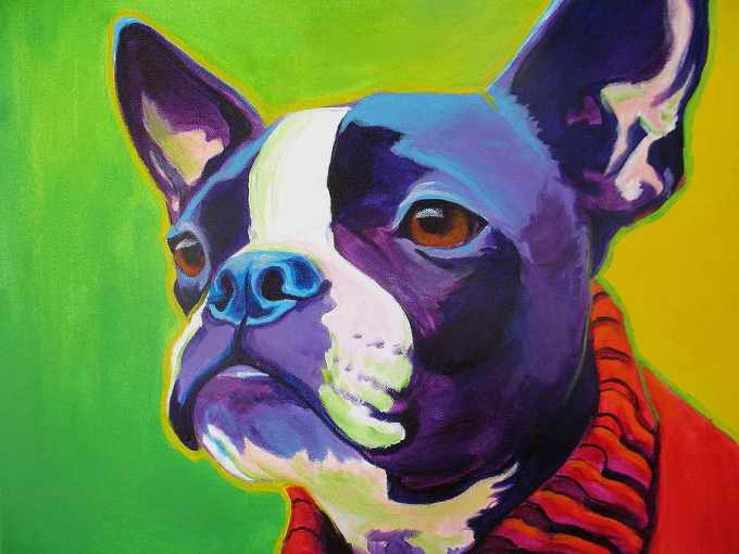 Boston Terrier Paintings