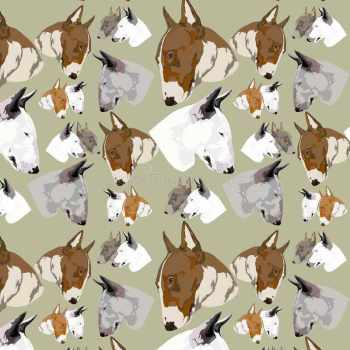 Bull Terrier Fabric