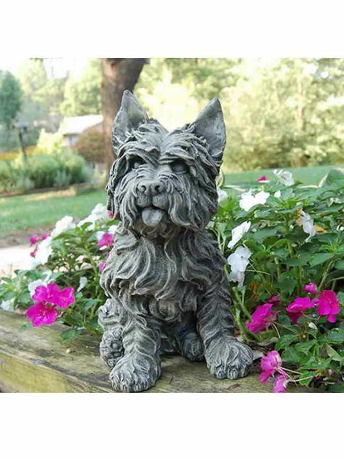 Cairn Terrier Garden Statue