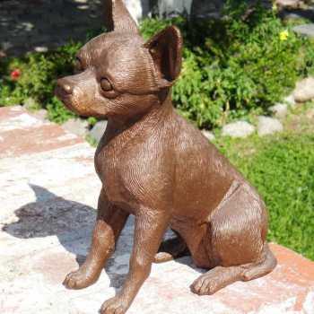 Chihuahua Garden Statues