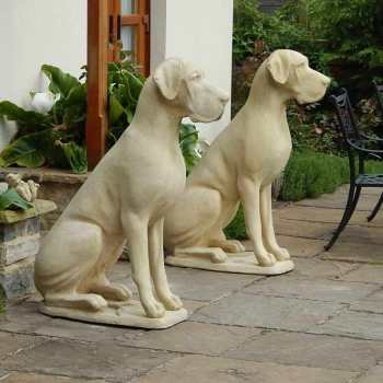 Concrete Great Dane Statue