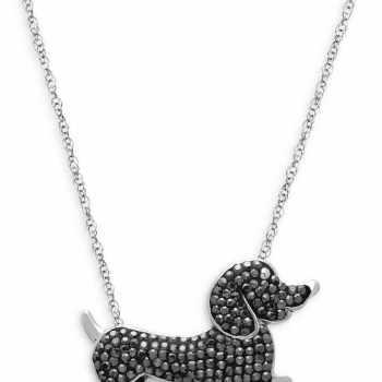 Dachshund Diamond Necklaces