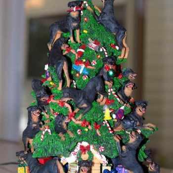 Danbury Mint Rottweiler Christmas Tree