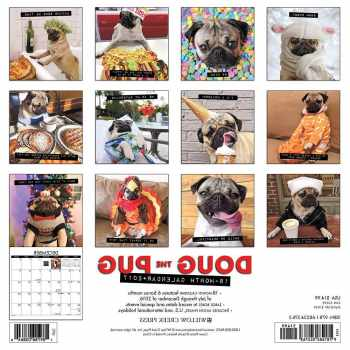 Doug The Pug Calendar 2017