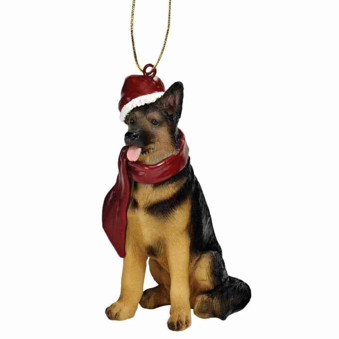 German Shepherd Christmas Ornaments