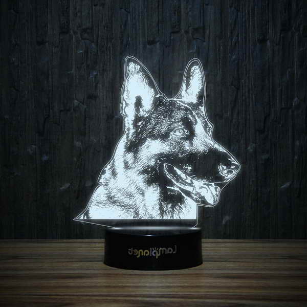 German Shepherd Lamp