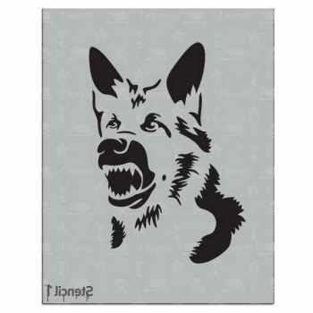 German Shepherd Stencil