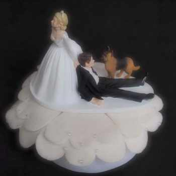 German Shepherd Wedding Cake Topper