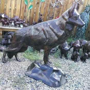 German Shepherd Yard Statue