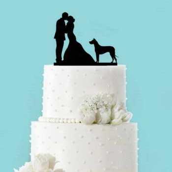Great Dane Wedding Cake Topper