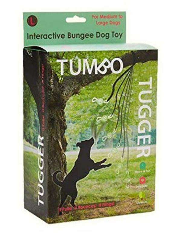 Tumbo Tugger Exercise Dog Toy - (Hanging Bungee Rope Tug Toy)