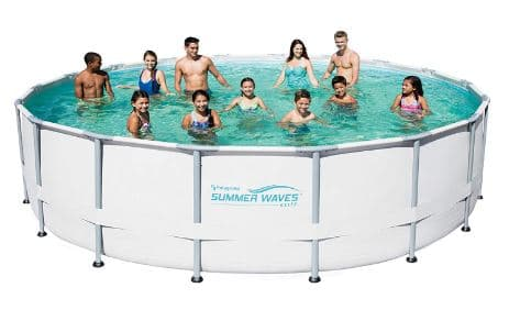 Summer Waves Elite Metal Frame Swimming Pool Package