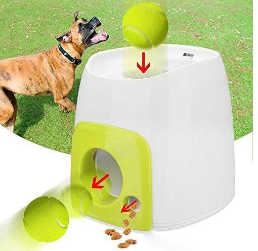 Hamkaw Dog Ball Launcher, Food Reward Machine