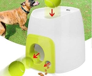 Hamkaw Dog Ball Launcher, Food Reward Machine