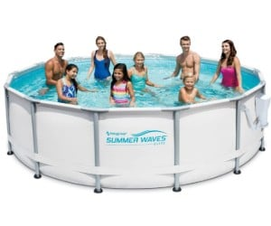 Summer Waves Elite 14ft x 42in Premium Frame Above Ground Pool with Pump