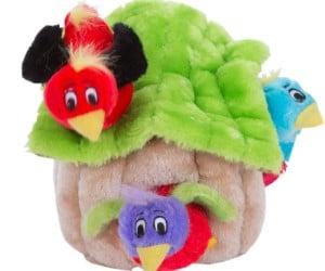 Outward Hound Hide-A-Bird Squeaky Puzzle Plush Dog Toy