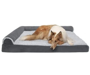 Furhaven Orthopedic Sofa Dog Bed with Cooling Gel Foam review