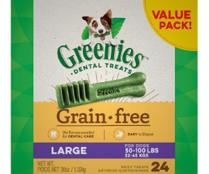 Greenies Original Grain Free Natural Dental Dog Treats review