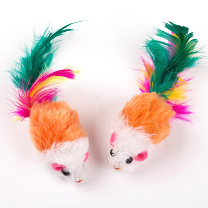 Set of Ten Mouse Pet Toys for Cats