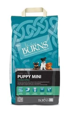 burns puppy food