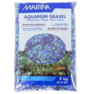 blue aquarium gravel