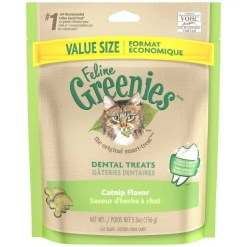 Feline Greenies Dental Natural Cat Treats Catnip Flavor