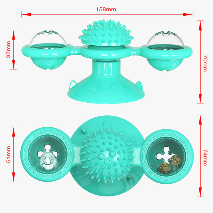 dimensions jouet interactif pour chat