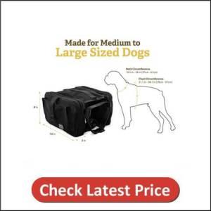 RIGG DOG Oxford Canvas Dog Saddle Bag