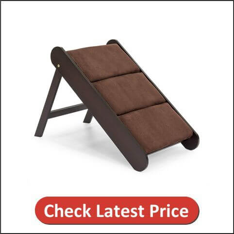 Best Choice Products 19in Portable Folding Wood Pet Ramp