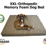 Extra-Extra-Large-Dog-Beds-XXL-Orthopedic-Memory-Foam-Pet-Bed-55-x-37-x-4-100-Made-in-USA-Best-XXL-Luxury-Large-Breed-Washable-Pet-Bed-You-Can-Buy-4-LB-Memory-Foam-Great-Puppy-Bed-Too-Introductory-Pri-0