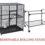 Large-Wrought-Iron-4-Levels-Ferret-Chinchilla-Sugar-Glider-Small-Animal-Cage-With-12-Wire-Cross-Shelves-Ladders-With-Removable-Rolling-Stand-0-0