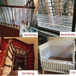 4UHeart-Child-Safety-Net-10ft-x25ft-Rail-Balcony-Banister-Stair-Net-Safety-for-Kids-Toys-Pets-Safe-for-Indoor-Outdoor-Patios-or-Balcony-Use-0-2