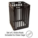 Arf-Pets-Free-Standing-Wood-Dog-Gate-with-Walk-Through-Door-Expands-Up-to-80-Wide-315-High-Bonus-Set-of-Foot-Supporters-Included-Upgraded-2019-Stronger-Model-0-2
