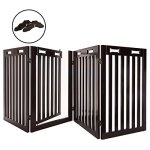 Arf-Pets-Free-Standing-Wood-Dog-Gate-with-Walk-Through-Door-Expands-Up-to-80-Wide-315-High-Bonus-Set-of-Foot-Supporters-Included-Upgraded-2019-Stronger-Model-0