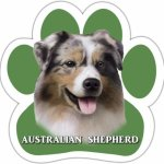 Australian-Shepherd-Car-Magnet-With-Unique-Paw-Shaped-Design-Measures-52-by-52-Inches-Covered-In-UV-Gloss-For-Weather-Protection-0